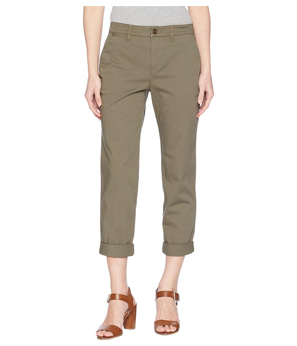 Ralph Lauren Petite Straight Chino Pants (Sage Moss) Wome...