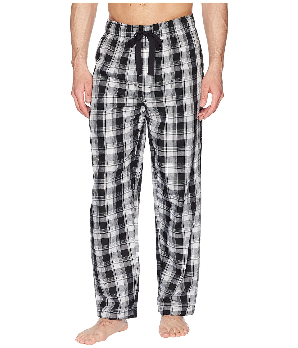 JOCKEY Plaid Poly/Rayon Sleep Pants (Black/White/Grey Pla...