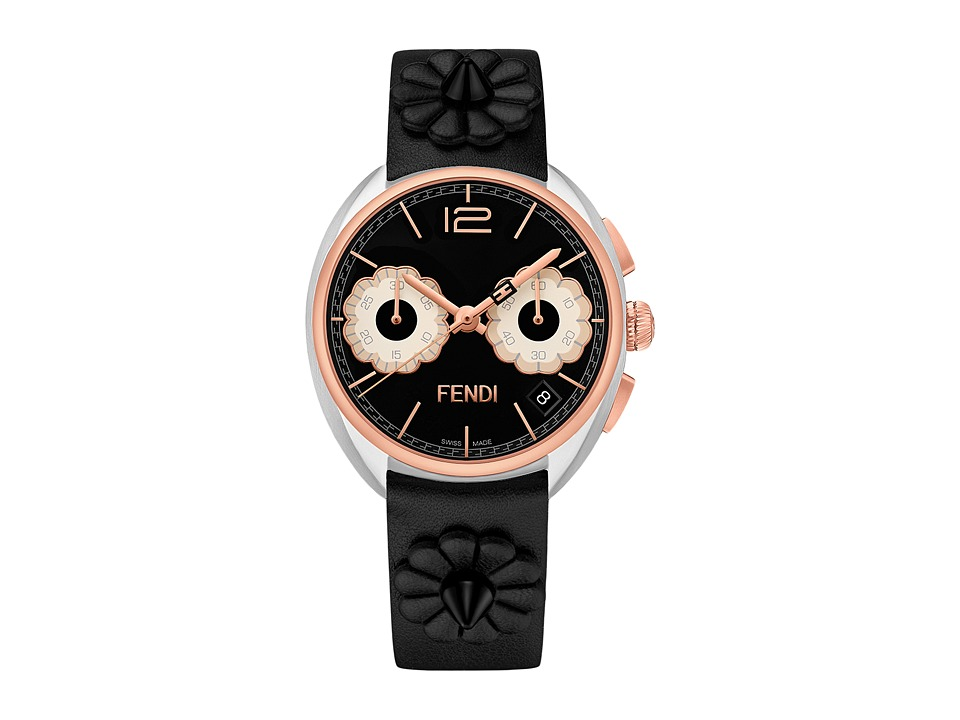 Fendi Timepieces - Momento Fendi Flowerland 40mm - F235211411 (Rose Gold/Black) Watches