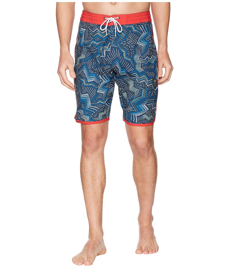 VISSLA - Testa Four-Way Stretch Boardshorts (Dark Denim) Mens Swimwear