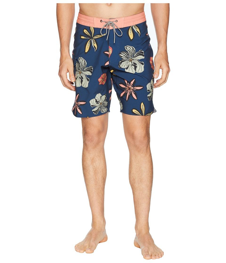 VISSLA - Weirdo Four-Way Stretch Boardshorts (Dark Denim) Mens Swimwear
