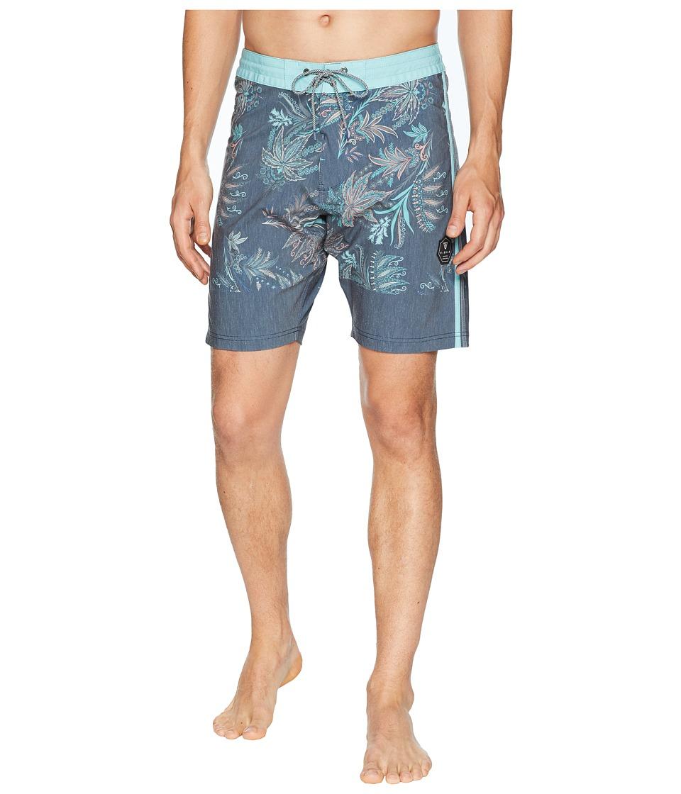 VISSLA - Boho Coast Four-Way Stretch Boardshorts (Dark Naval) Mens Swimwear