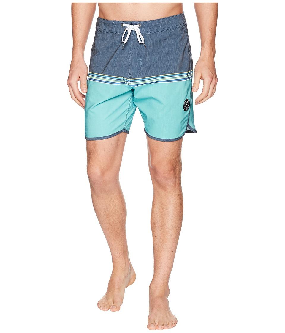 VISSLA - Dredges Short Four-Way Stretch Boardshorts (Deep Navy) Mens Swimwear