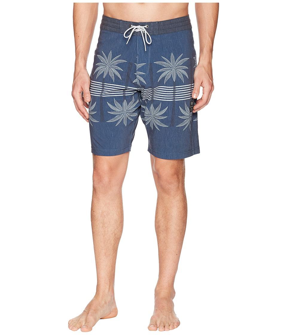 VISSLA - Coconut Grove Four-Way Stretch Boardshorts (Dark Denim) Mens Swimwear
