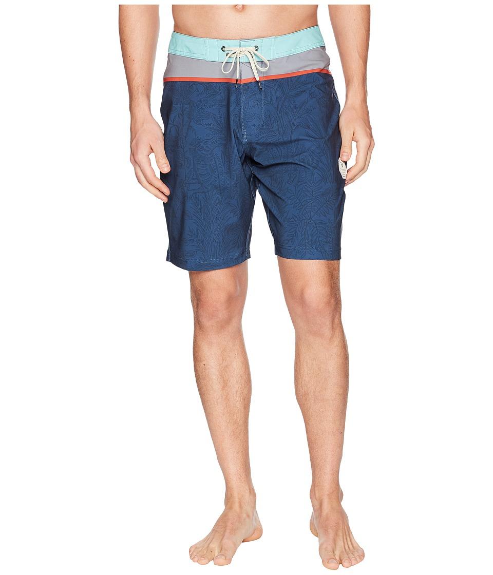 VISSLA - Congos Four-Way Stretch Boardshorts (Dark Denim) Mens Swimwear