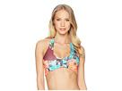 Vince Camuto Lagoon Floral Wrap Halter Bikini Top