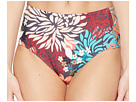 Vince Camuto Lagoon Floral Strappy Side High-Waist Bikini Bottom