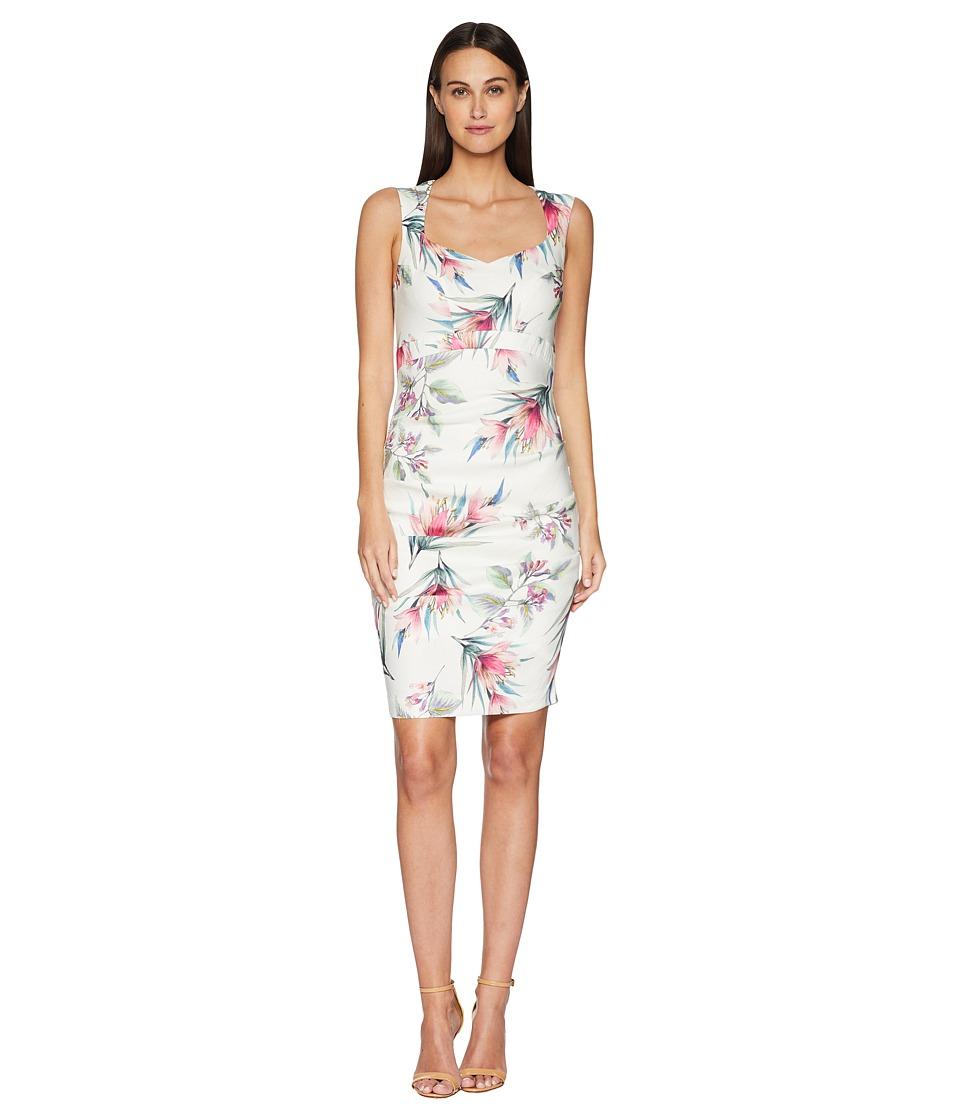 Nicole Miller - Santina Dress (White Multi) Womens Dress