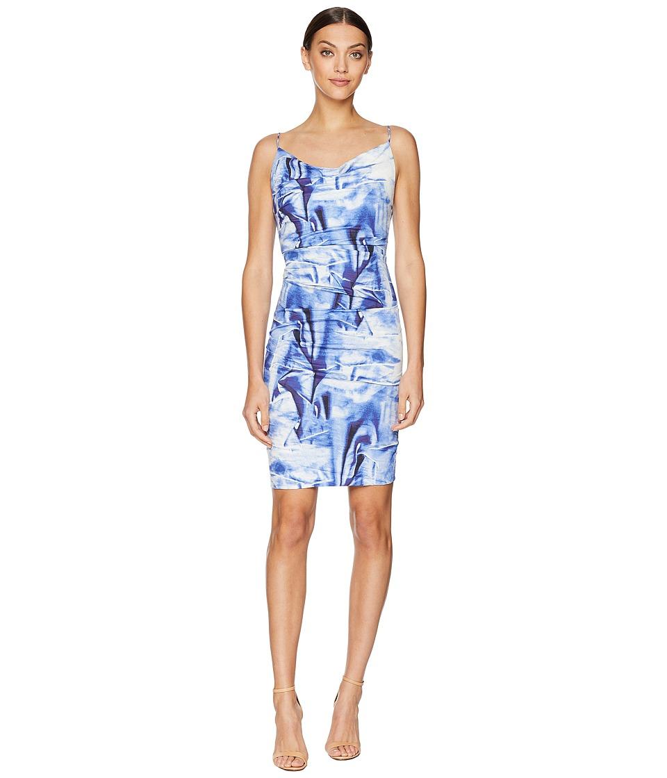 Nicole Miller - Carly Tuck Dress (Blue Multi) Womens Dress