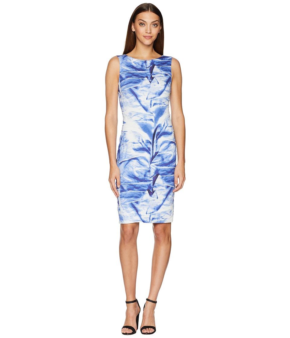 Nicole Miller - Midi Dress (Blue Multi) Womens Dress