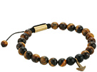 Steve Madden Tiger Eye Bead with Anchor Charm Bracelet