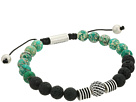 Steve Madden Textured Ball and Chrysocolla Bead Bracelet