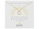 Dogeared Celebrate Everything, Dotted Circle with Crystal Necklace