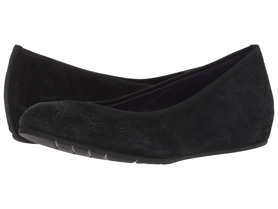 Vaneli Pamie (Black/Silver Rory Suede) Flats