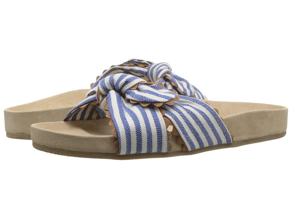 Loeffler Randall Beattie (Blue/Cream/Chipmunk) Women's Shoes