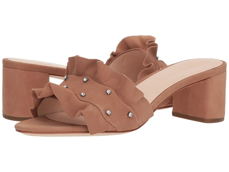 Loeffler Randall Vera Ruffle Sandal Mule (Buff Pink/Clear) Women's Shoes