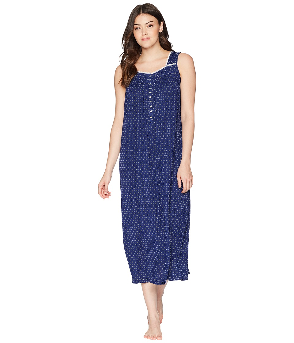 Eileen West - Ballet Nightgown (Blue Geo) Womens Pajama