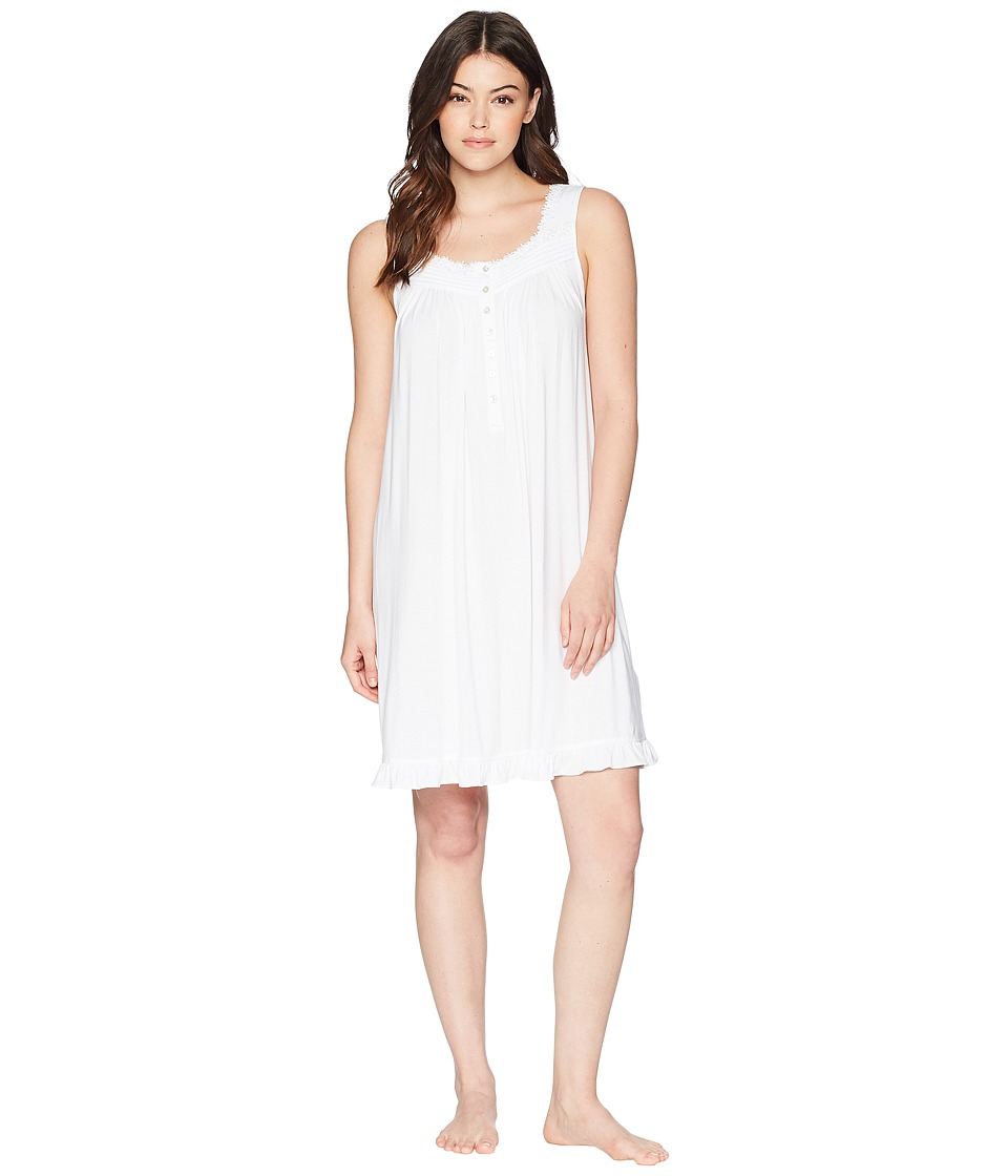 Eileen West - Short Chemise (White) Womens Pajama