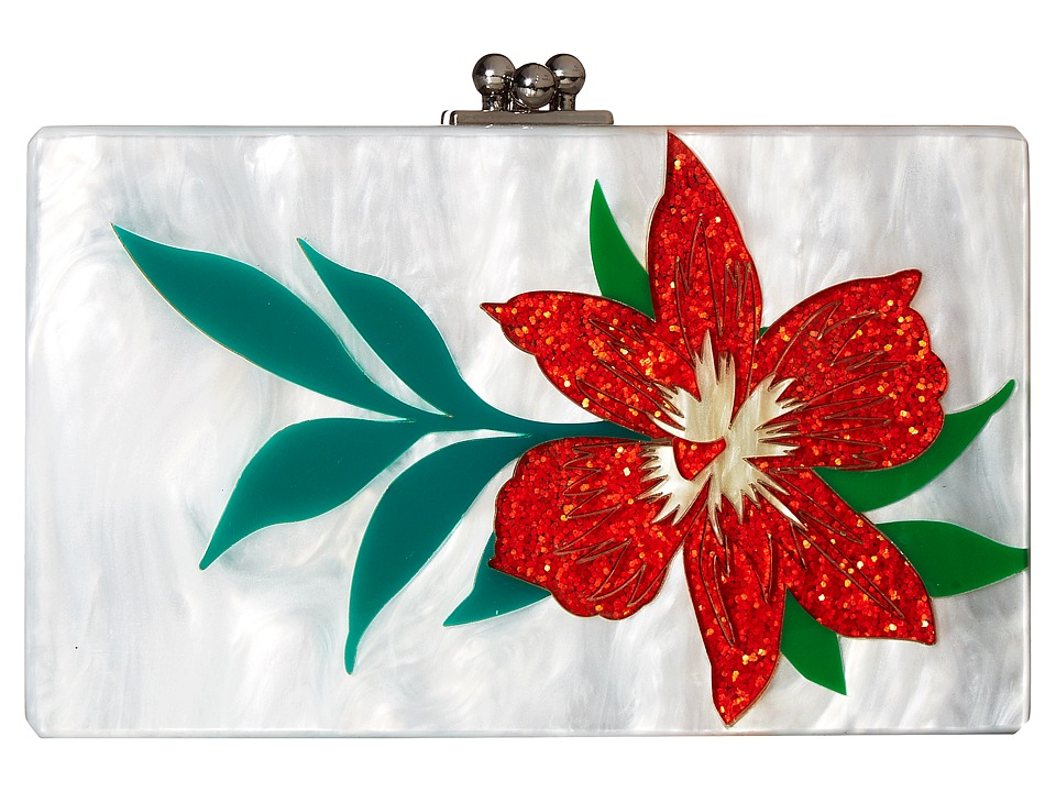 Sam Edelman - Flower Clutch (Orange Flower) Clutch Handbags