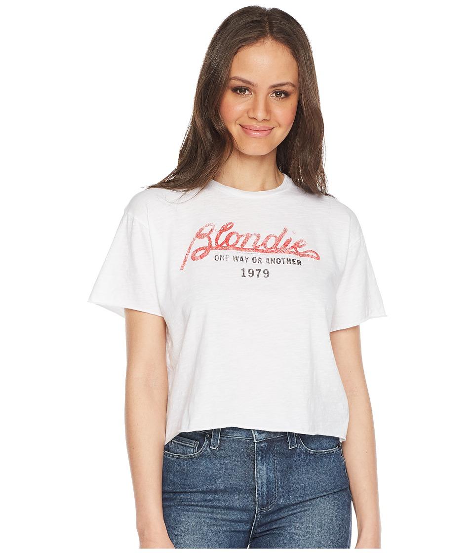 The Original Retro Brand - Blondie Vintage Cut Off Slub Tee (White) Womens T Shirt