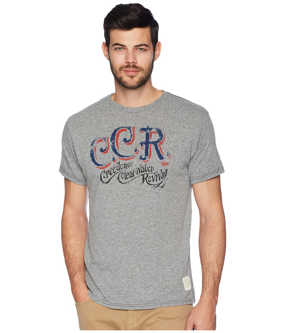 The Original Retro Brand - Creedence Clearwater Revival Tri-Blend Tee (Streaky Grey) Mens T Shirt