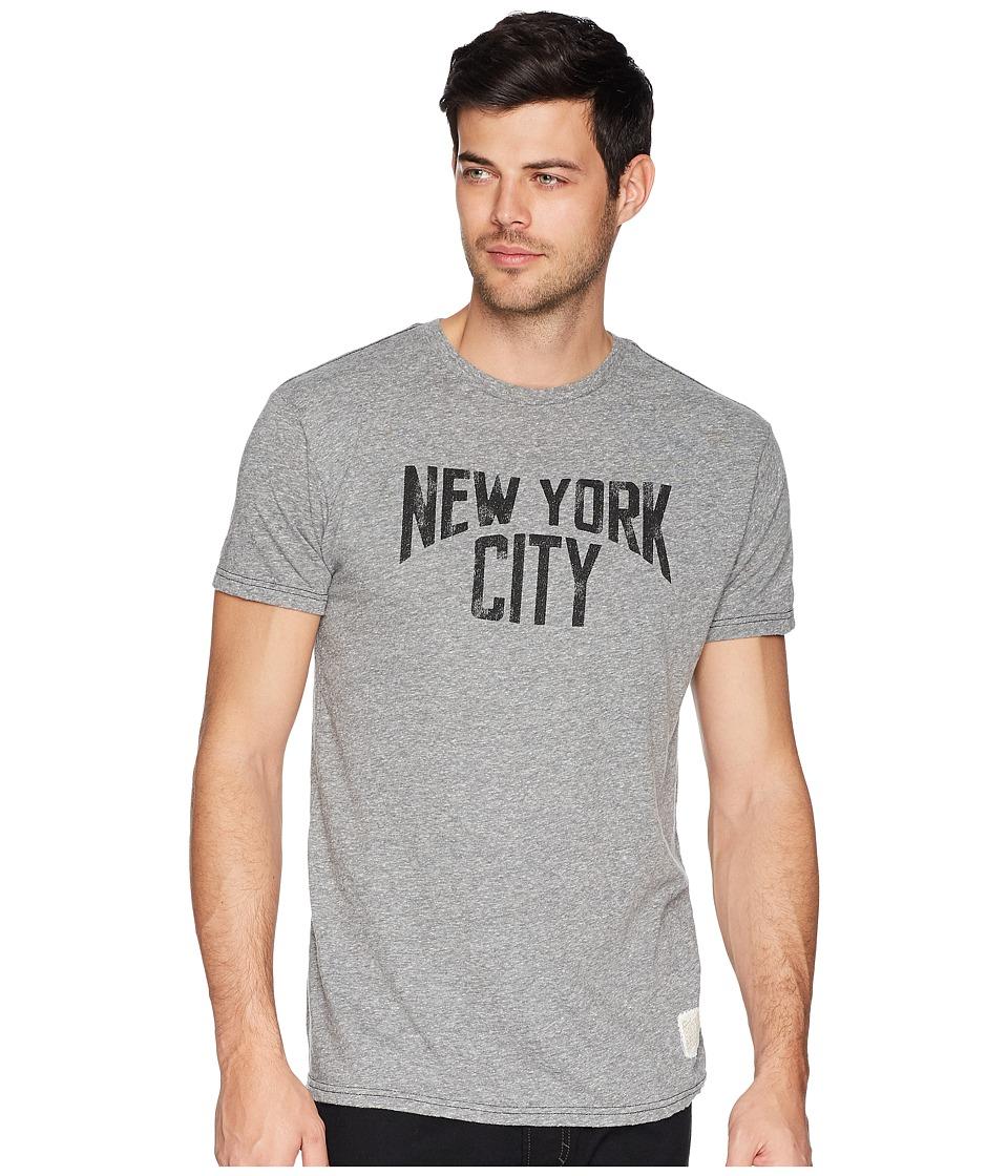 The Original Retro Brand - New York City Tri-Blend Tee (Strealy Grey) Mens T Shirt