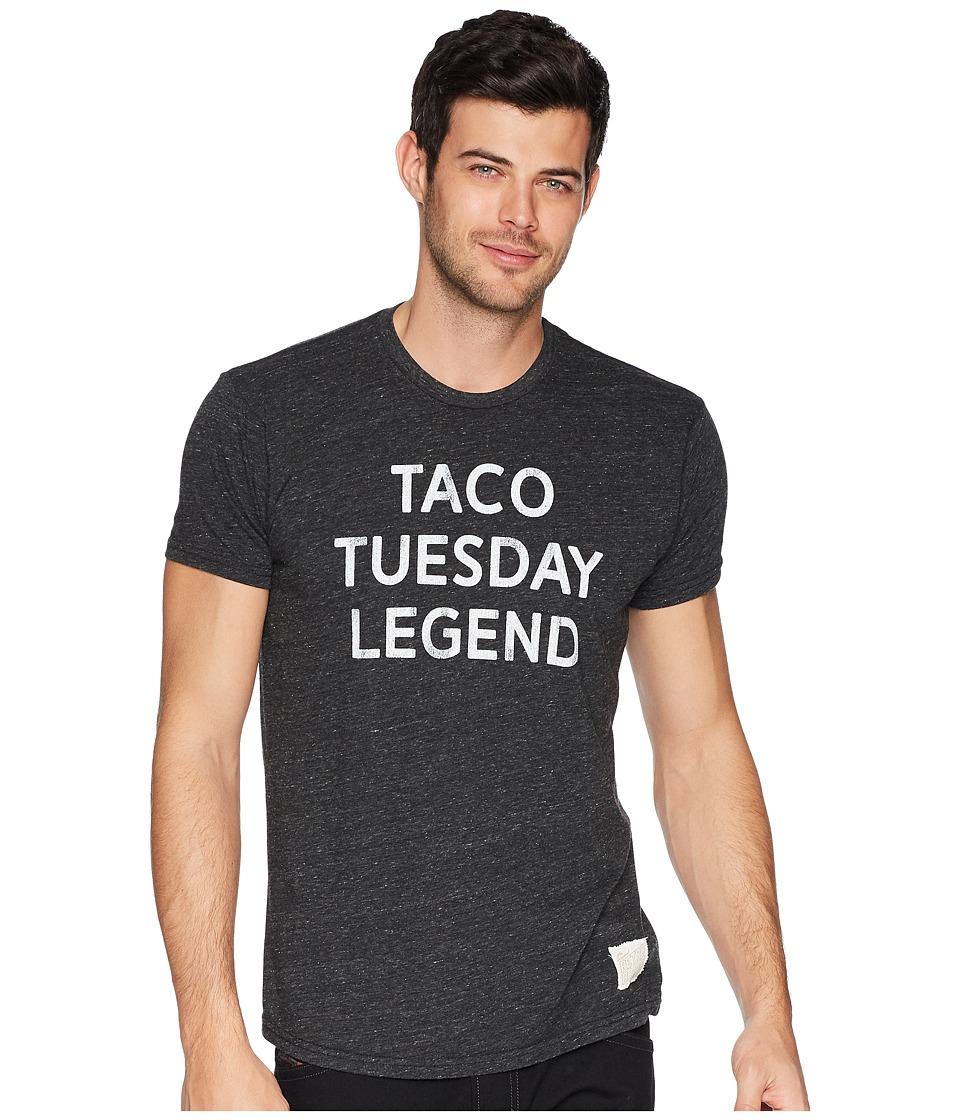 The Original Retro Brand - Taco Tuesday Legend Tri-Blend Tee (Streaky Black) Mens T Shirt