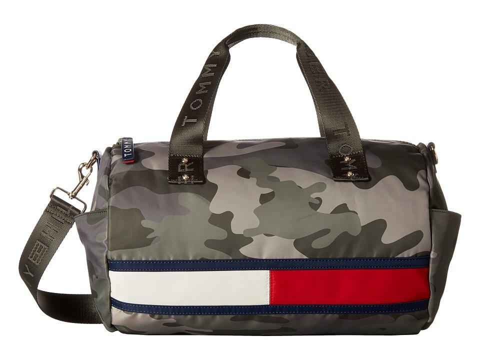 Tommy Hilfiger - Nori Flag Camo Nylon Duffel (Green) Duffel Bags