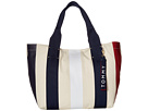 Tommy Hilfiger Classic Tommy Vertical Stripe Canvas Tote