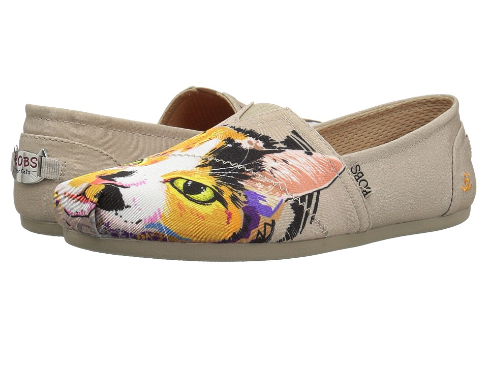 BOBS from SKECHERS Bobs Plush - Calico Cuddles (Taupe) Flats