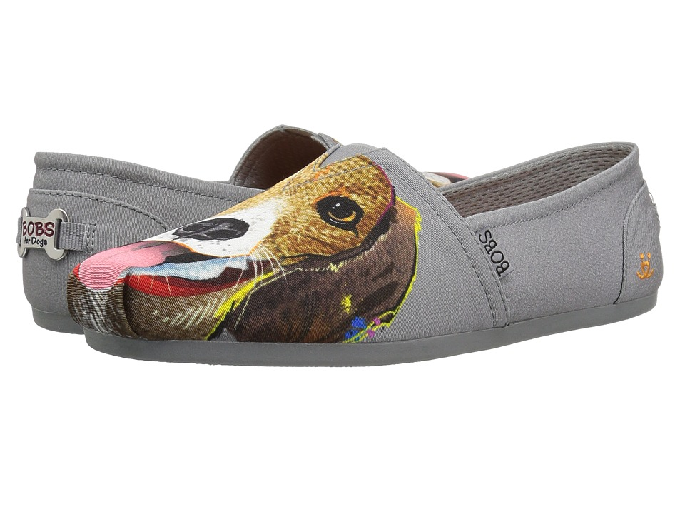BOBS from SKECHERS Bobs Plush - Beagle Bud (Charcoal) Flats