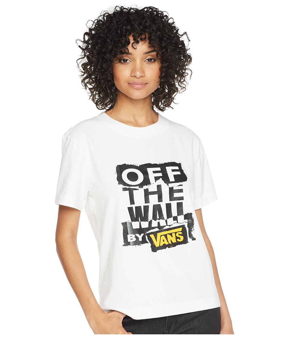 Vans - Ripped OTW Boxy Top (White) Womens Clothing