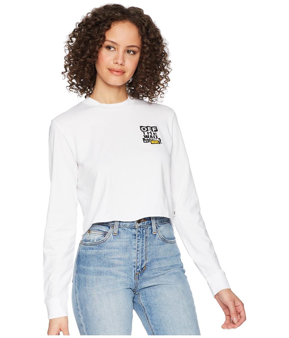 Vans - Ripped OTW Long Sleeve Top (White) Womens Clothing