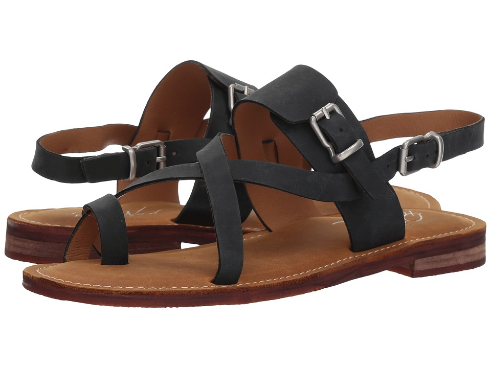 Patricia Nash - Fidella (Black Crazy Horse Leather) Womens Sandals