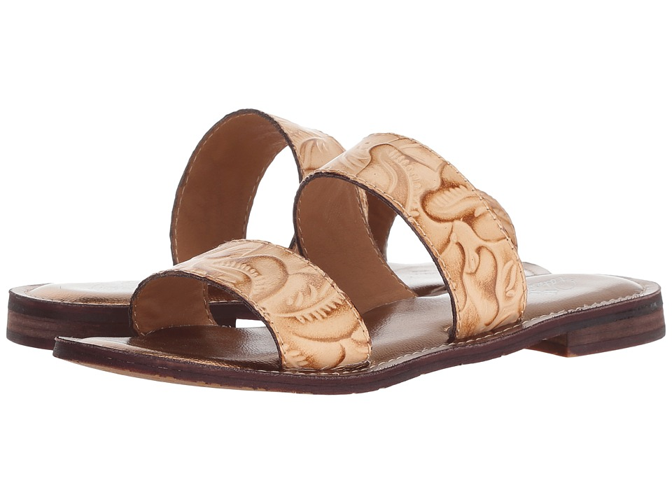 Patricia Nash Flair (Natural Tooled Leather) Sandals