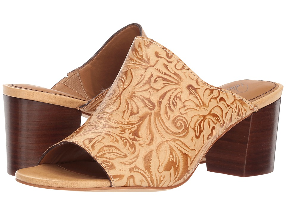 Patricia Nash Shelli (Natural Tooled Leather) Women's Clog/Mule Shoes