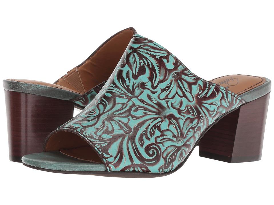 Patricia Nash Shelli (Turquoise Tooled) Women's Clog/Mule Shoes