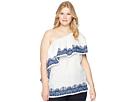 LAUREN Ralph Lauren Plus Size One Shoulder Linen Top