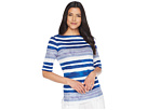 LAUREN Ralph Lauren LAUREN Ralph Lauren Striped Boat Neck Top
