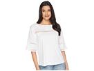 LAUREN Ralph Lauren LAUREN Ralph Lauren Eyelet Cotton-Blend T-Shirt