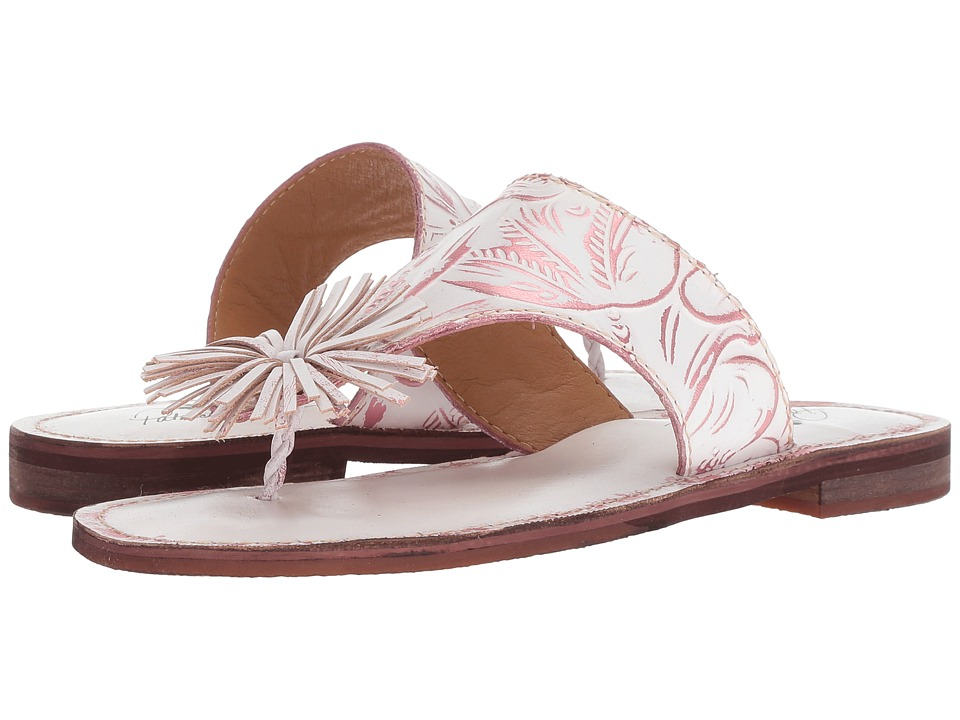 Patricia Nash Franca (White/Pink Leather) Sandals