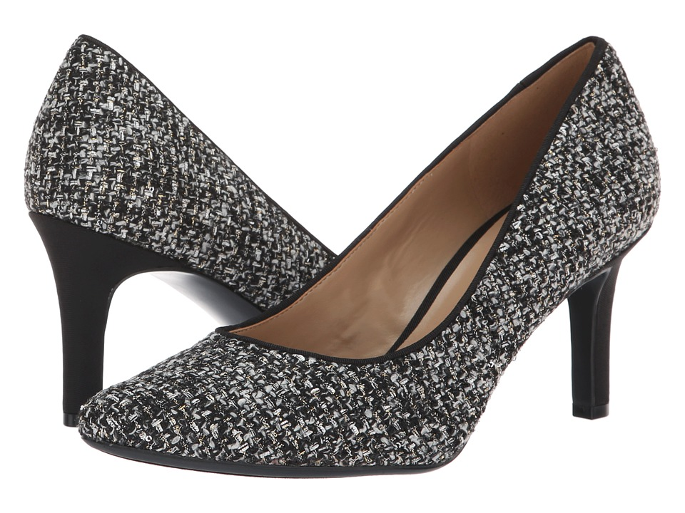 Naturalizer Natalie (Black/White Metallic Tweed) High Heels