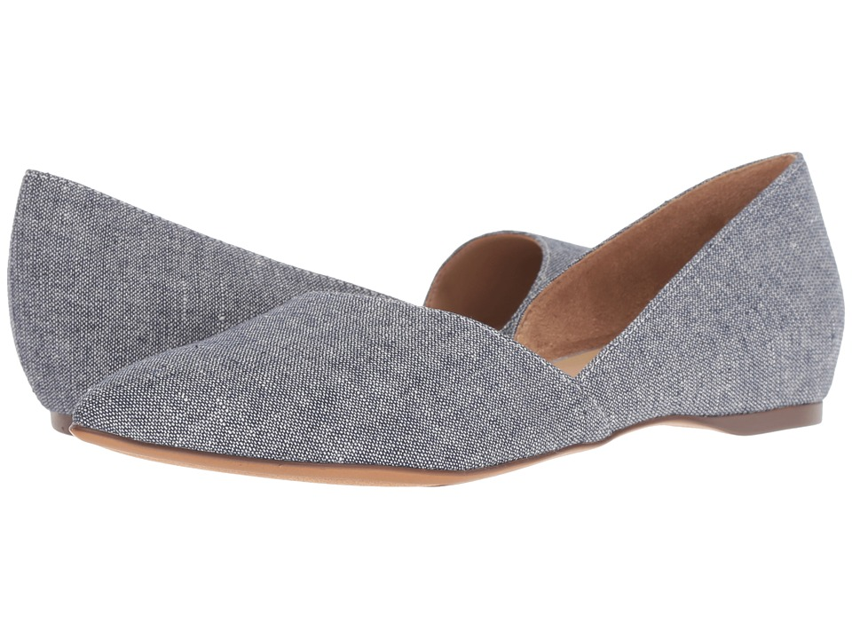 Naturalizer Samantha (Blue Metallic Denim Fabric) Flats