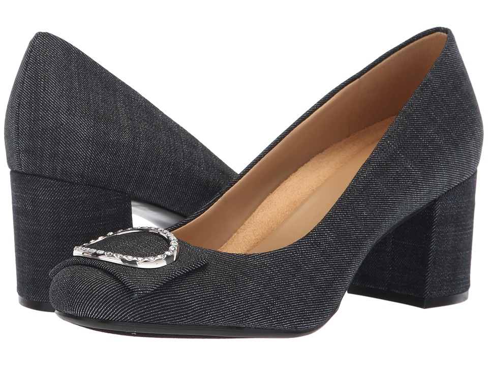Naturalizer Wright (Dark Blue Denim Fabric) High Heels