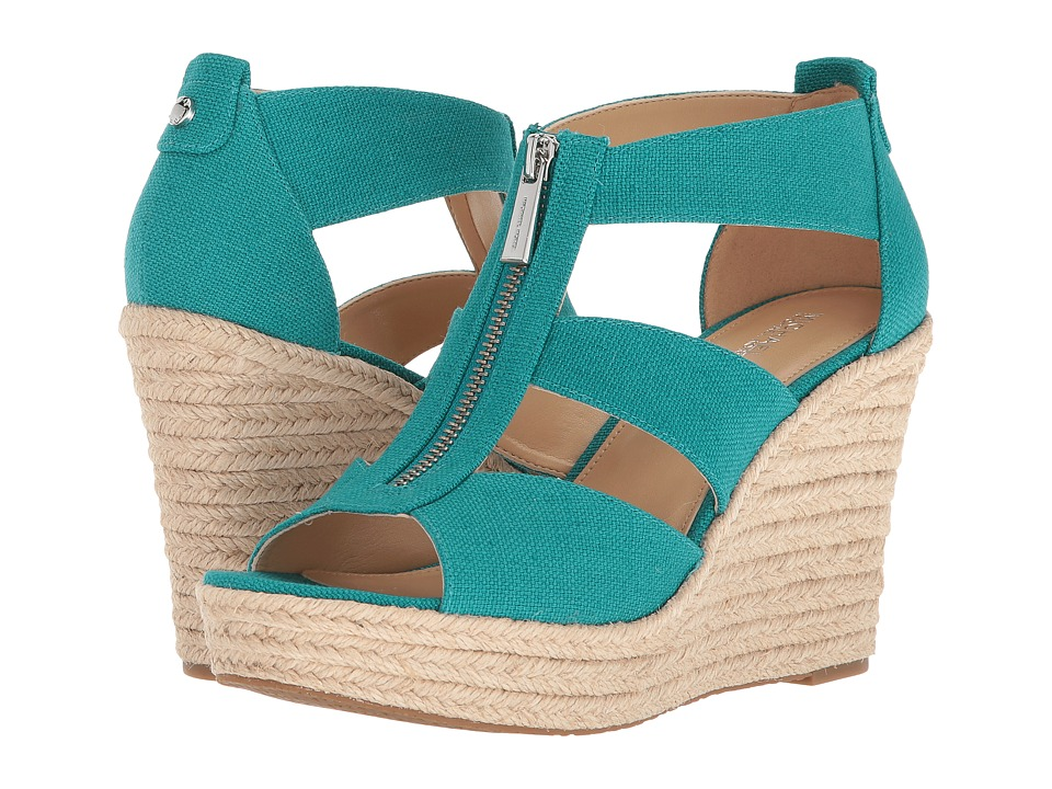 MICHAEL Michael Kors - Damita Wedge (Tile Blue) Womens Wedge Shoes