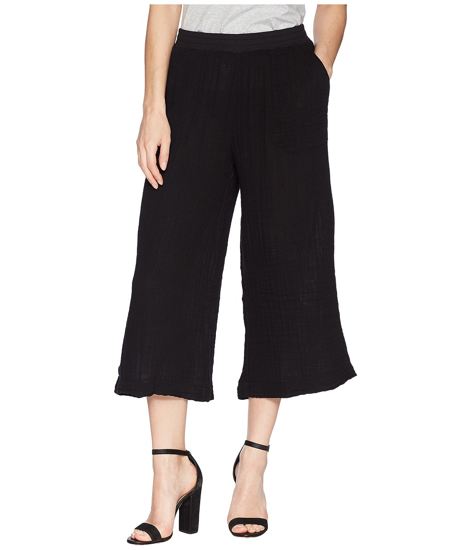 Three Dots Mica Gauze Culotte Pants (Black) Women's Casua...