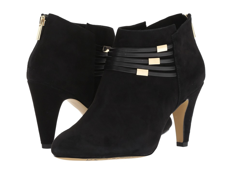 Bella-Vita Nerissa (Black Kid Suede Leather/Black) High Heels