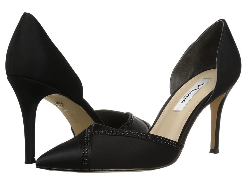 Nina Diora (Black Satin) High Heels