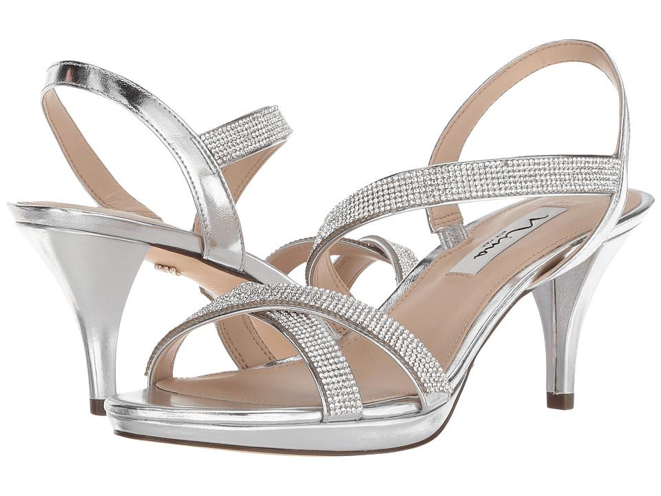Nina Nizana (Silver Metallic Foil) 1-2 inch heel Shoes