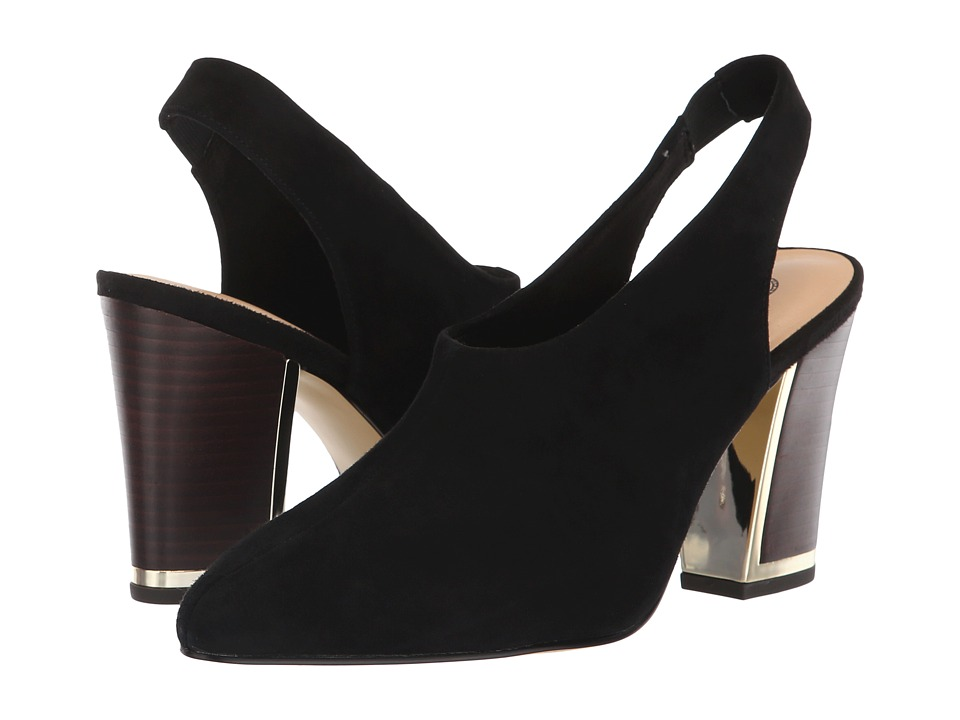 Bella-Vita Gabriella (Black Kid Suede Leather) High Heels